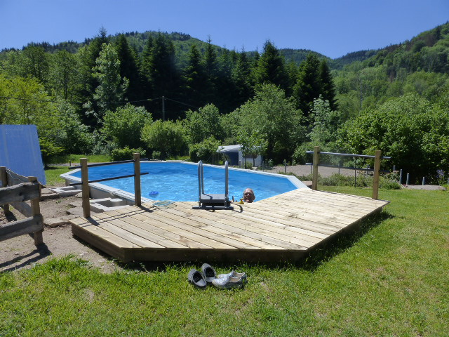 Le Creux camping zwembad Vogezen