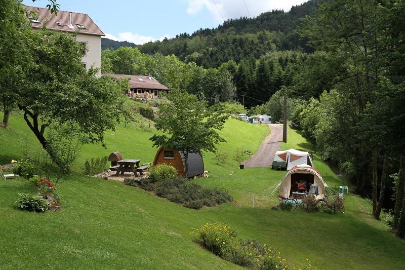 Camping Le Creux Camping Pod wandelen Vogezen