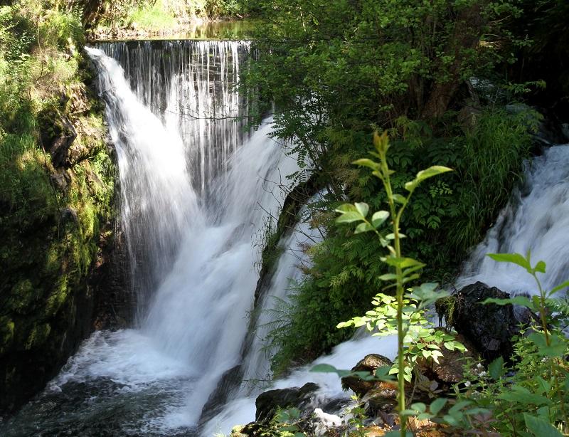 Le Creux camping wandelen waterval Vogezen